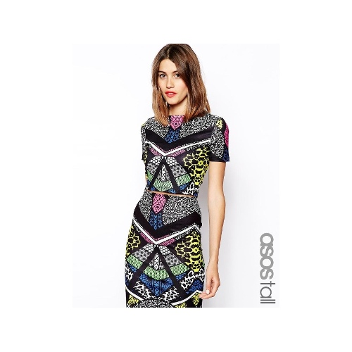 Exclusive Printed Top In Abstract Print