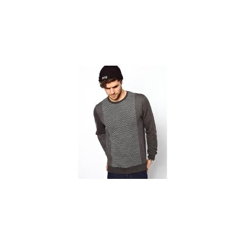 ASOS Sweatshirt With Knitted Panel