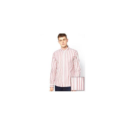 ASOS Shirt In Long Sleeve With Breton Stripe - Red