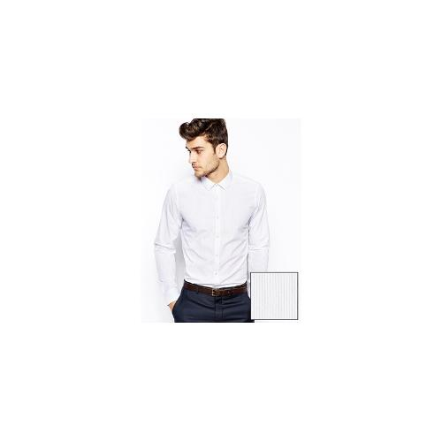 ASOS Smart Shirt With Ticking Stripe And Long Sleeves