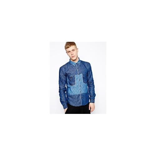 Volklore Shirt with Squiggle Print - Blue