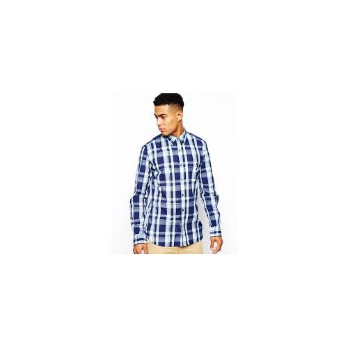 French Connection Shirt Long Sleeve Button Down - Blue
