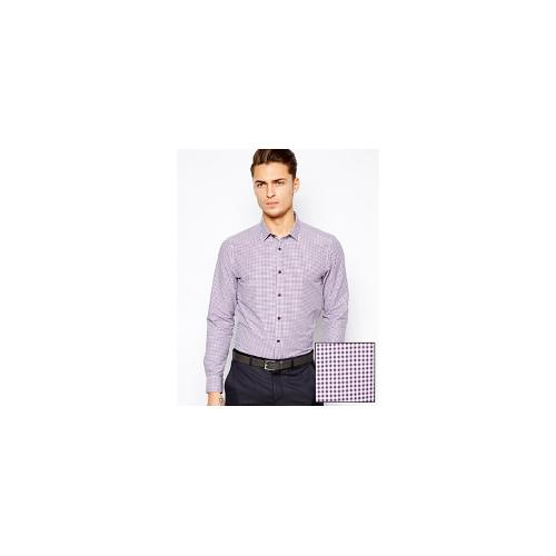 ASOS Smart Shirt In Long Sleeve With Mini Gingham Check