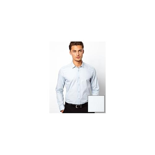 ASOS Smart Shirt In Long Sleeve In Cotton