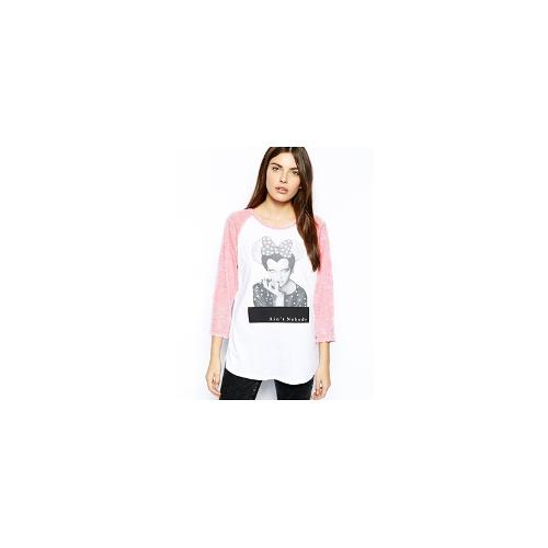 CAPTURE By Hollywood Made Ain't Nobody Baseball Top - White/ pink