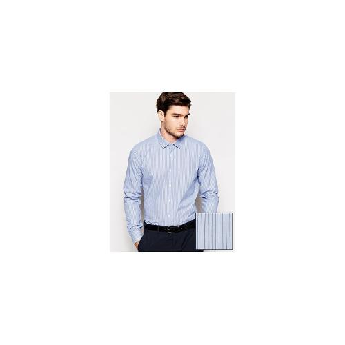 ASOS Smart Shirt In Long Sleeve With End On End Stripe