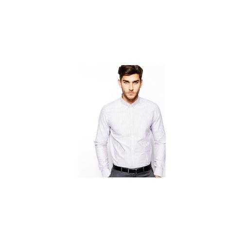 ASOS Smart Shirt In Long Sleeve With Oxford Stripe