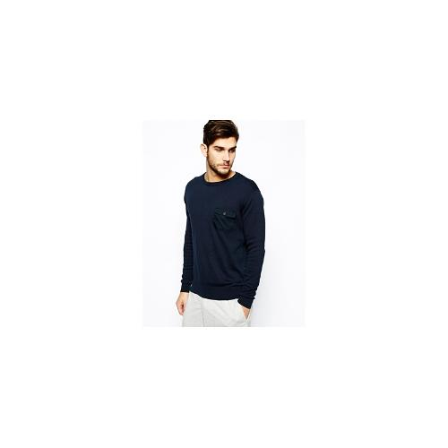 French Connection Sweat Pocket Crew - Navy