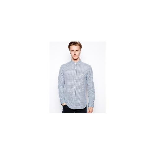 French Connection Long Sleeve Check Shirt - Navy