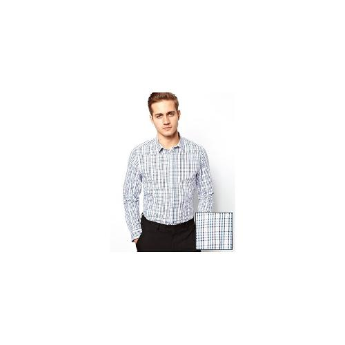 ASOS Smart Shirt In Long Sleeve With Multi Grid Check