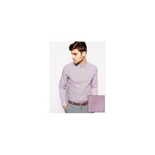 ASOS Smart Shirt With City Stripe And Long Sleeves