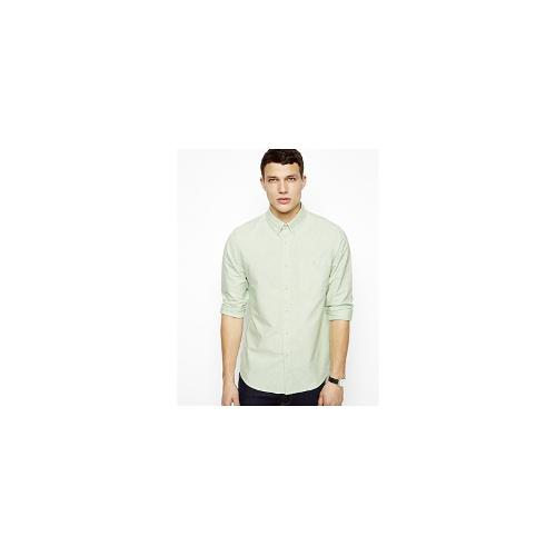ASOS Oxford Shirt In Green With Long Sleeves - Green