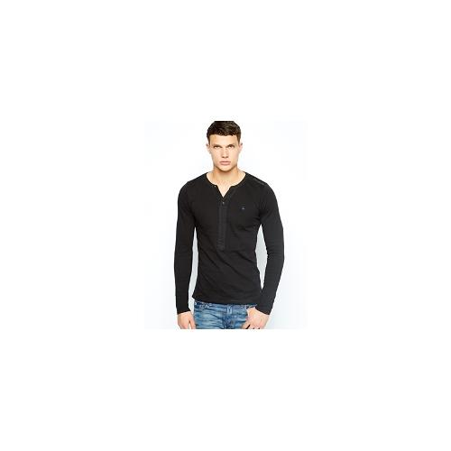 G Star Long Sleeve Top Navy Grandad