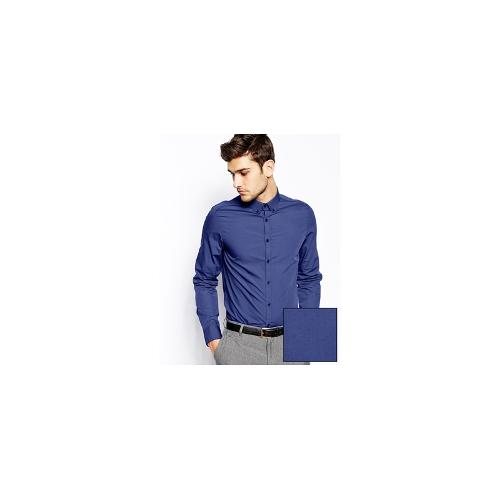 ASOS Smart Shirt In Long Sleeve with Button Down Collar In Cotton