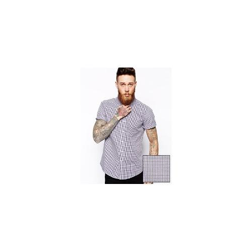 ASOS Smart Shirt In Short Sleeve With Gingham Check