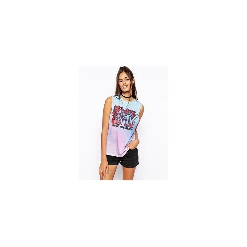 ASOS Vest with Ombre MTV Print