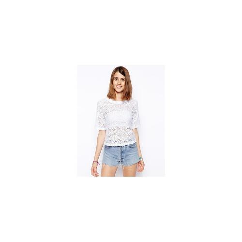 ASOS T-Shirt in Daisy Lace