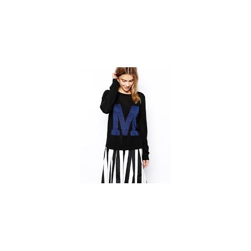 Minimum M Print Top - Black