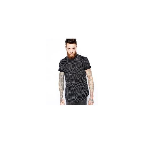 ASOS Shirt In Short Sleeve With Geo Check Print