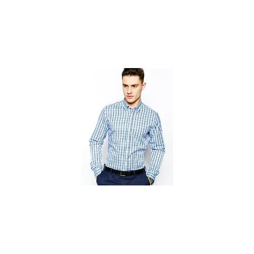 Red Eleven Slim Fit Shirt Check - Blue