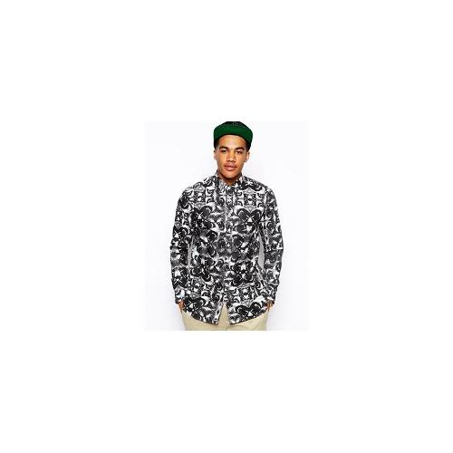 A Question Of Oxford Shirt in Lion Print - Black