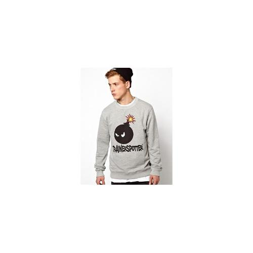 Trainerspotter Sweat With Bombhead - Grey marl