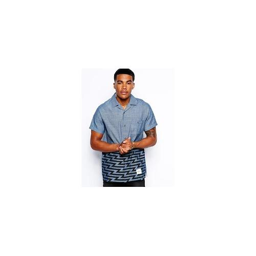 Supremebeing Chambray Shirt With Short Sleeves - Blue
