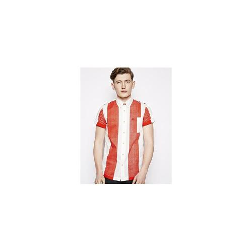 Fred Perry Southsea Deck Chairs Striped Shirt With Short Sleeve
