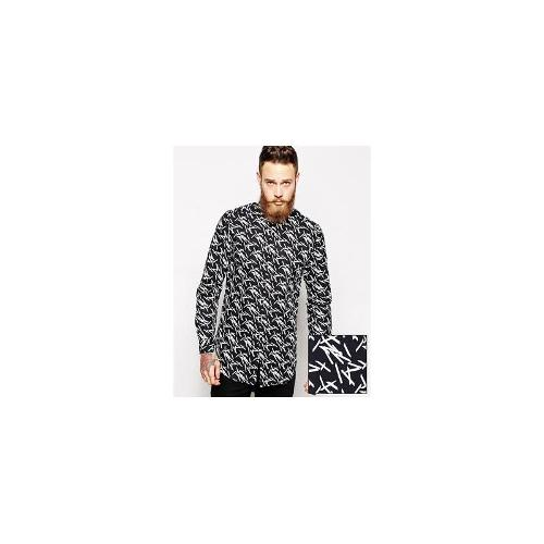 ASOS Smart Shirt In Mid Length With Long Sleeves And Matches Print