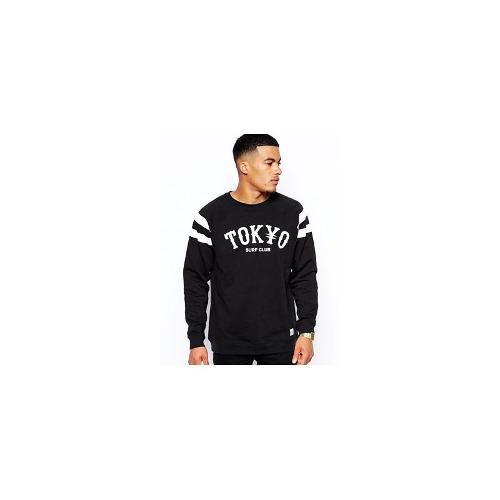 A Question Of Sweatshirt with Tokyo Print - Black