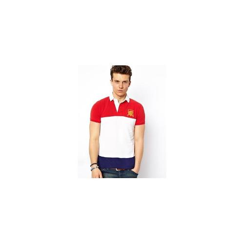 Polo Ralph Lauren Polo with Archive Logo and Block Hoop in Slim Fit - White