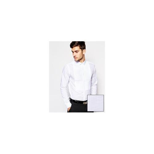 ASOS Smart Tux Shirt In Long Sleeve With Pleated Bib
