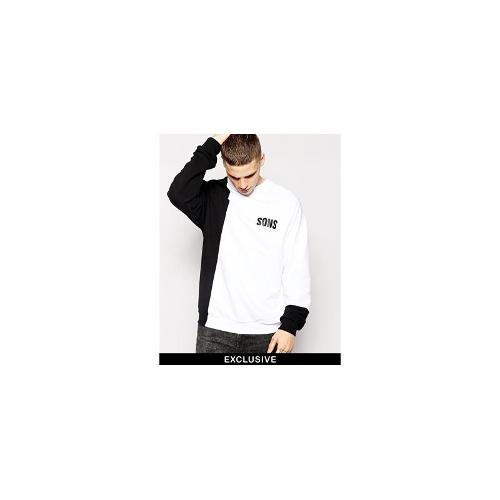 SONS Exclusive Sweatshirt with Block Panels - Black and white