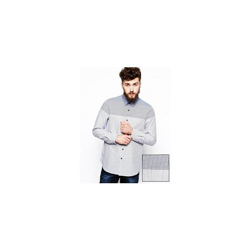 ASOS Smart Shirt In Long Sleeve With Engineered Stripe
