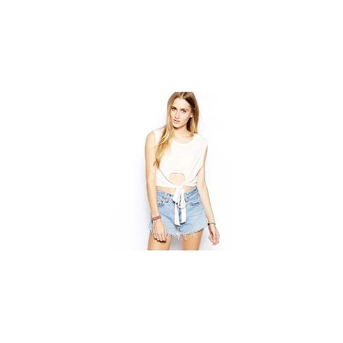 RVCA Limit To Your Love Crop Top - Petal pink $11.43