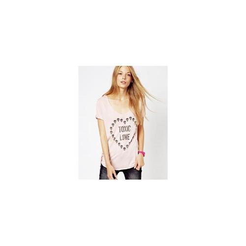 South Parade Round Neck T-Shirt with Toxic Love Print