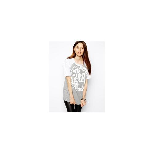 ASOS Baseball Top with Pop Print