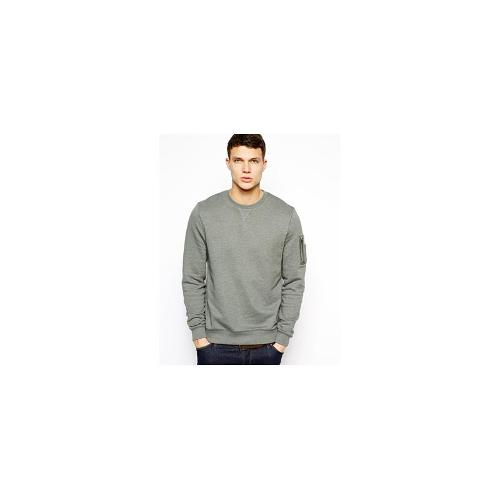ASOS Sweatshirt With MA1 Detail