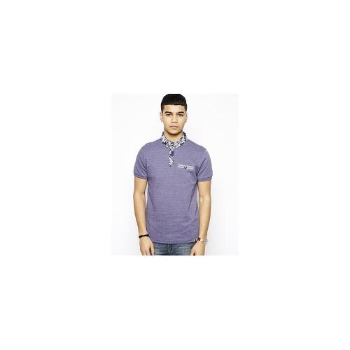 Bellfield Polo With Printed Collar - Navy