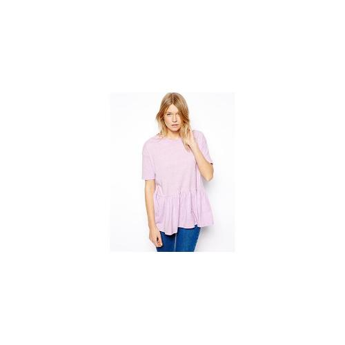 ASOS Oversized Smock T-Shirt in Nepi Fabric - Lilac £12.00