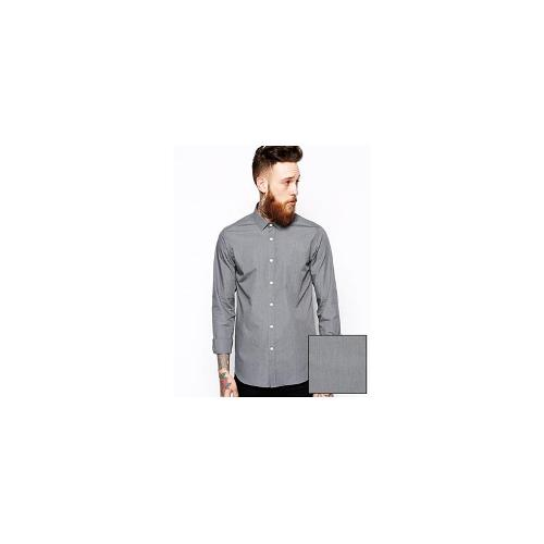ASOS Smart Shirt In Long Sleeve With Marl Effect