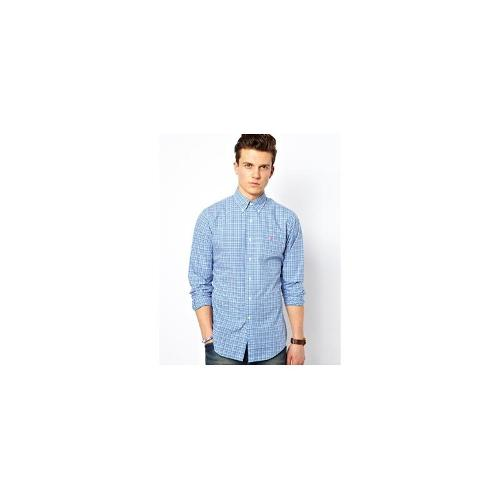 Polo Ralph Lauren Shirt in Madras Check Slim Fit - Blue