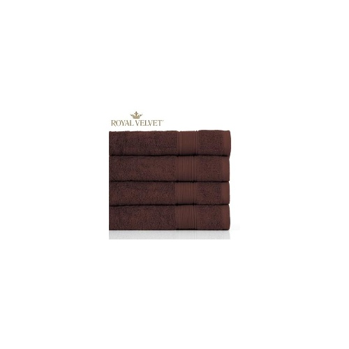 4 pack Royal Velvet 650 GSM Hand Towels - Brown