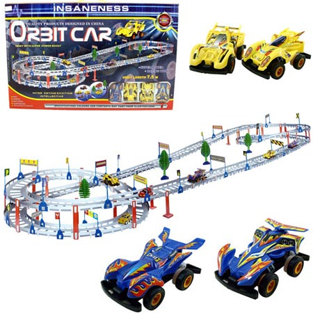 Battery Operated Railraod car playset - 7.5m!