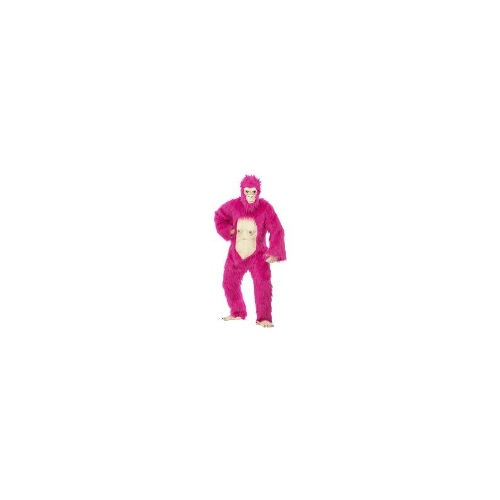 New Male Adult Deluxe Pink Gorilla Animal Smiffys Fancy Dress Costume - One Size