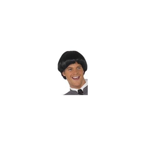 New Adults Mens Swinging '60s Bowl Smiffys Fancy Dress Costume Wig
