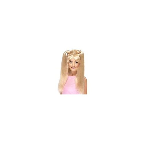 New Adults Female 90's Baby Power Blonde Smiffys Fancy Dress Costume Wig