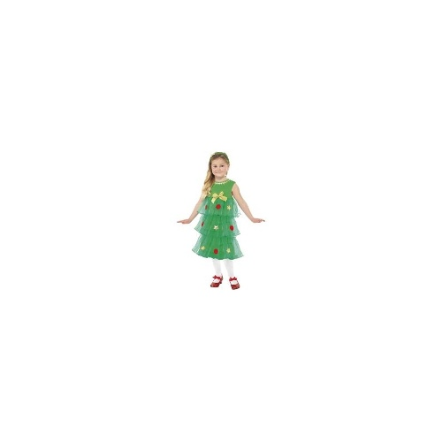 New Childrens Girls Little Christmas Tree Tutu Fancy Dress Costume - Medium