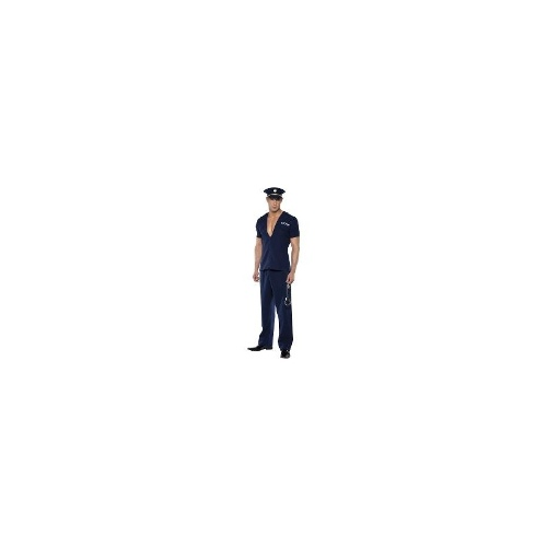 Adult Men's Fever Policemand Officer Uniform Fancy Dress Costume