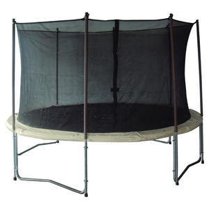 14' Trampoline & Enclosure with Cream Pads